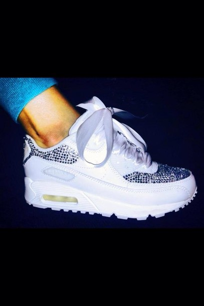 nike air max 90 with diamonds