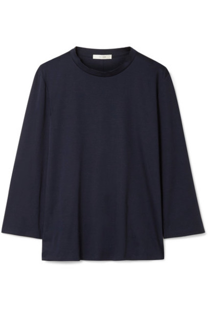 The Row top navy cotton