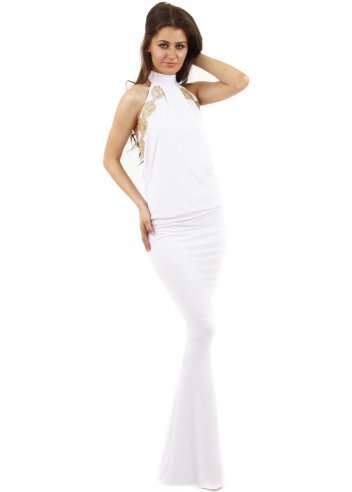 Honor Gold | Sacha Maxi Dress | White Maxi As Seen On Jessica Wright