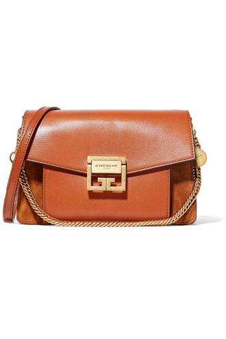 tan bag shoulder bag leather suede