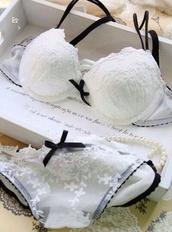 underwear,black and white,sexy,bridal lingerie,lingerie set,shirt,bra,panties,lingeri,white,lingerie,white lingerie