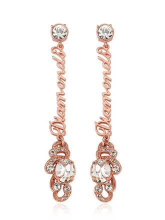 earrings white pink jewels