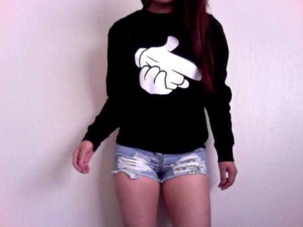 white sweater black sweater sweater