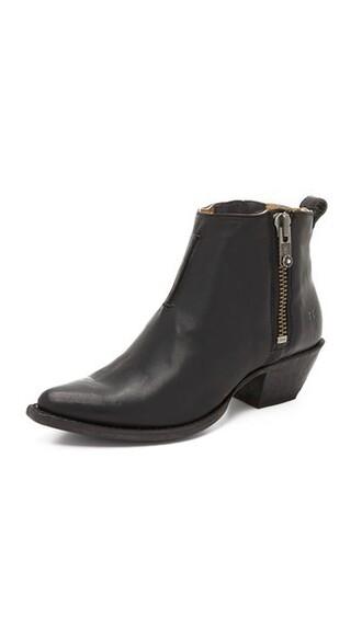 short booties black shoes