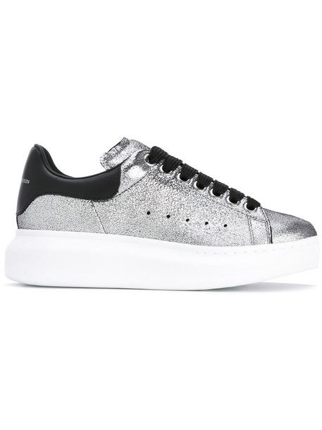 Alexander Mcqueen women sneakers leather grey shoes