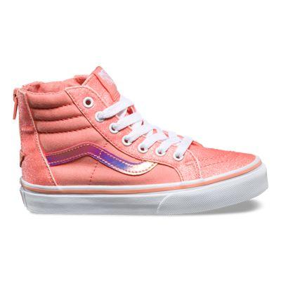 Kids Glitter & Iridescent SK8 Hi Zip | Shop Kids Shoes At Vans