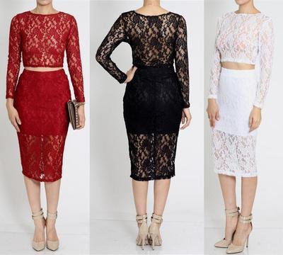 Lace midi skirt set · trendyish · online store powered by storenvy