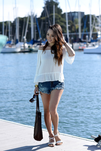 jessica r. hapa time - a california fashion blog by jessica blogger top shorts shoes bag sunglasses