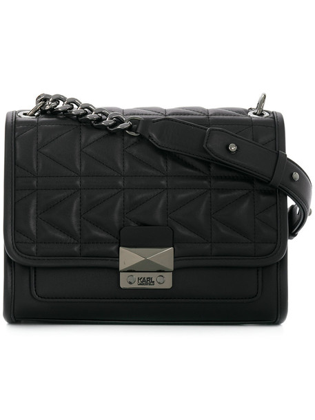 karl lagerfeld women handbag black bag