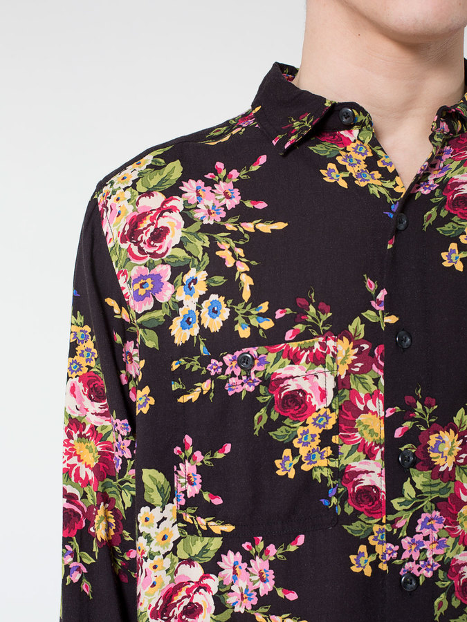 American Apparel Printed Rayon Long Sleeve Button Up | Where to buy & how to wear