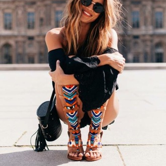 shoes summer outfits colorful boho boho chic boho jewelry bohemian boots high heels hipster hippie summer