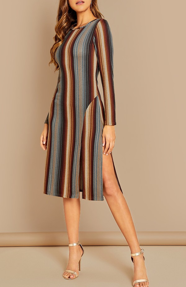 dress girly girl girly wishlist bodycon dress bodycon stripes striped dress slit dress