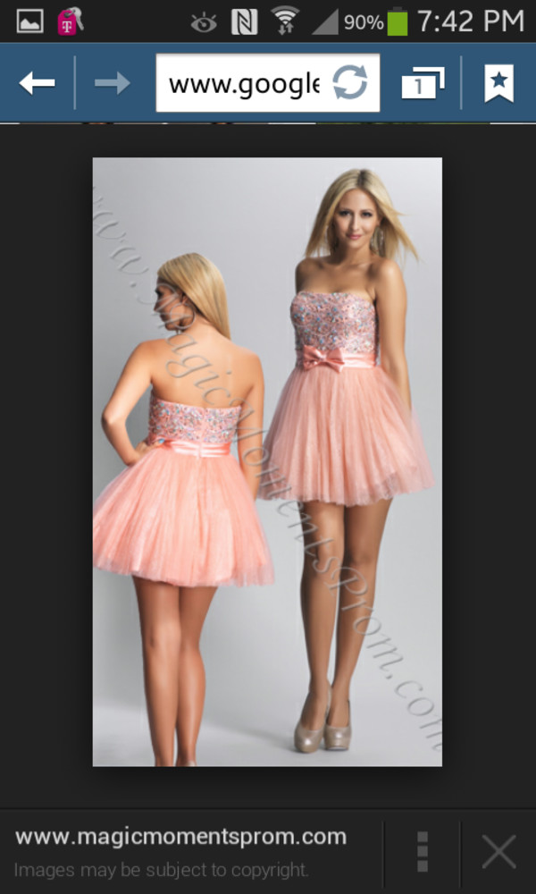 pink dress short dress prom homecoming