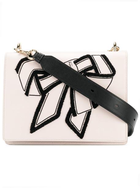 Salvatore Ferragamo bow women bag shoulder bag leather purple pink