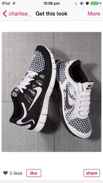 shoes nike nike running shoes nike shoes nike air nike sneakers nike free run nikes black black and white black shoes white white shoes triangle black trainers tick