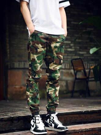 jogger pant camo pants mens pants winter swag camouflage