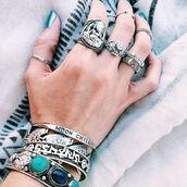 jewels,ganesha,moon,mystic,gypsy,gypset,boho,bohemian,ring,knuckle ring,hippie,turquoise,elephant