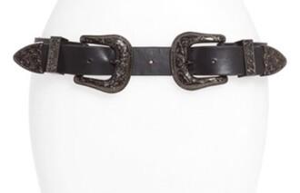 belt black western belt