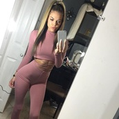 t-shirt,crop tops,pink,instagram,outfit,two piece dress set,pants,criss cross,where to get the set?