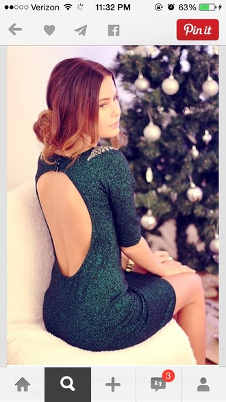 dress green dress emerald green backless dress forest green christmas holidays sparkle back cut-out tree green glitter dress glitter short dress fabr dress prom dress party dress bodycon dress open back dresses green sequins dos nu nye dresses holiday season pretty evening dress cocktail dress formal dress