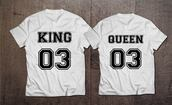 shirt,king and queen,the king,queen of fucking everything,queen,couples shirts,KING queen king queen,his queen,her king,clothes,cool shirts,shirts with sayings,quote on it,funny quote shirt,king,tumblr shirt,instagram famous,queen b,couple,royalty,number,graphic tee,customized,anniversary present,couples christmas presents,valentines day gift idea,valentines day gifts,engagement present