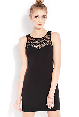 Sweet Side Bodycon Dress | FOREVER21 - 2000090843