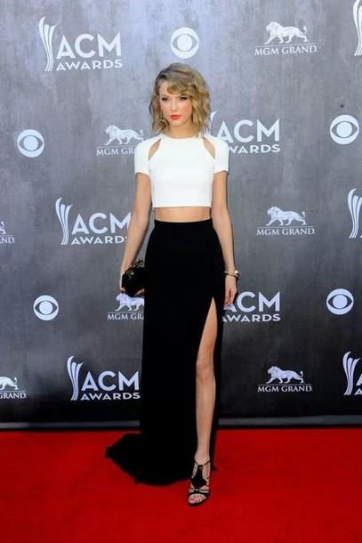 skirt black skirt slit skirt hat blouse slit maxi skirt