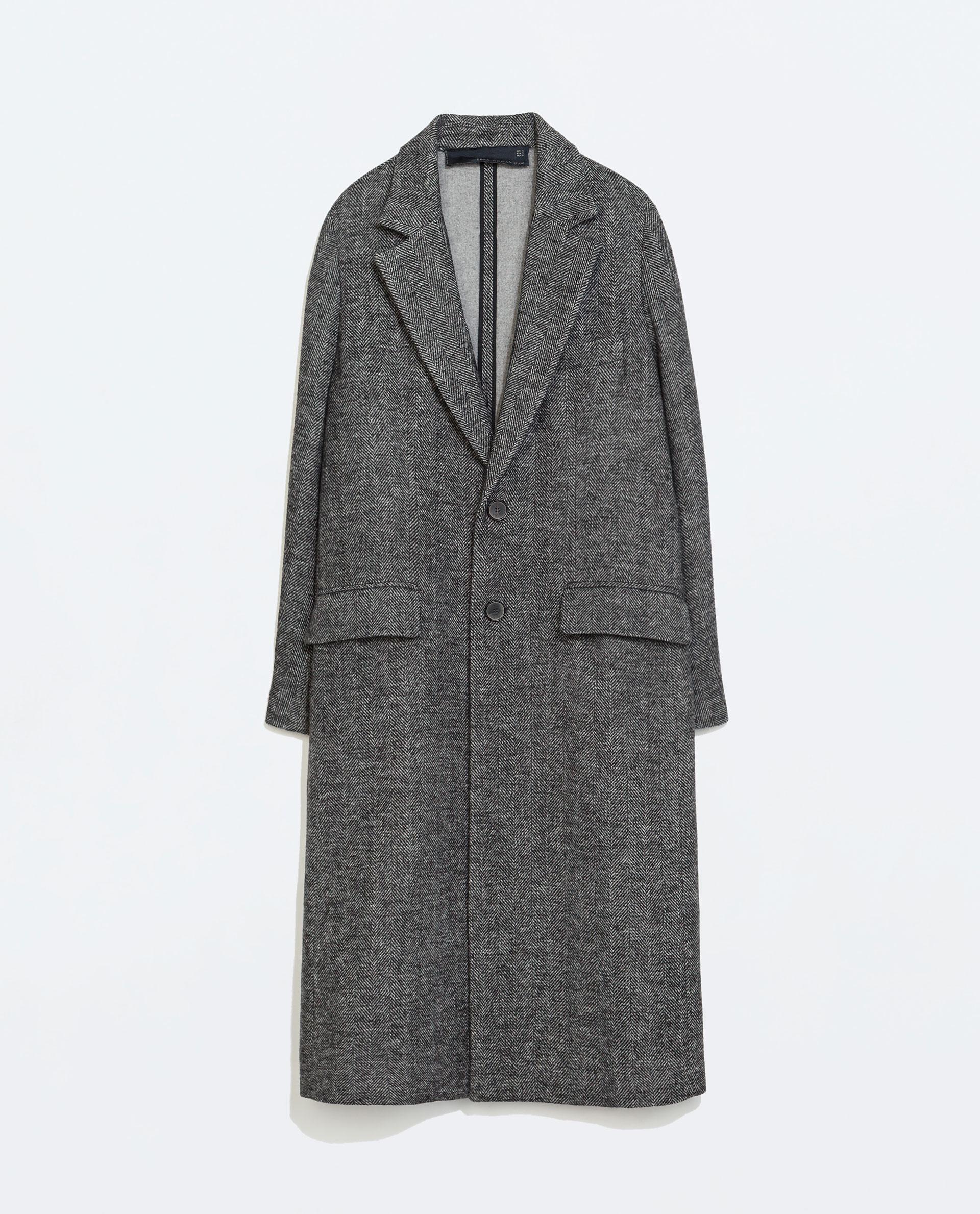 dc2aff57 STUDIO HERRINGBONE COAT - Coats - Outerwear - WOMAN - SALE | ZARA United  States