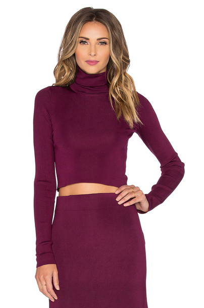 Rachel Zoe sweater turtleneck turtleneck sweater purple