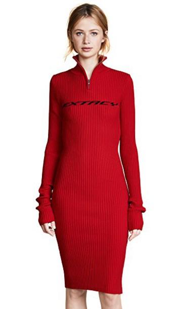 M I S B H V dress zip red
