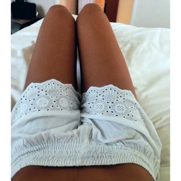 crochet white crochet shorts lace shorts vintage flowered shorts printed shorts white shorts white lace shorts white tumblr