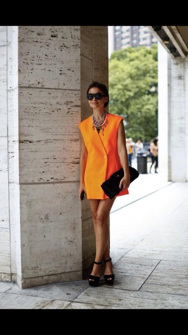 orange dress dress