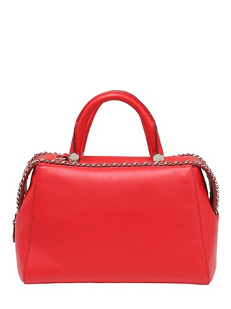 bag leather bag leather red