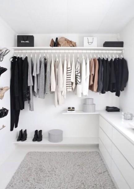 home accessory closet minimalist t-shirt white dresser shirt chanel blouse closet freaks
