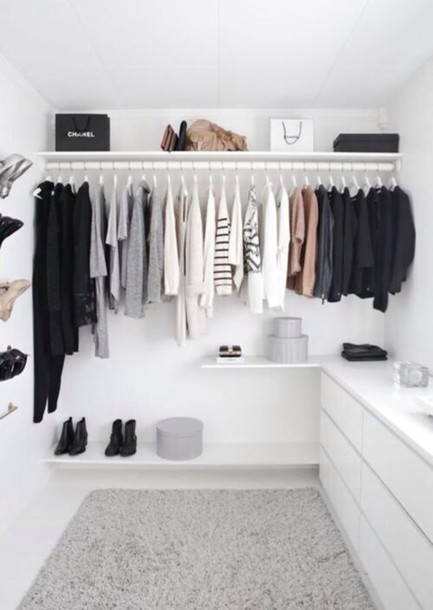 home accessory closet minimalist t-shirt white dresser
