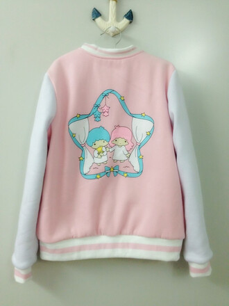 jacket kawaii cute baseball jacket pastel pink