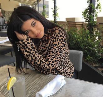 jacket animal print spring jacket instagram kylie jenner kardashians