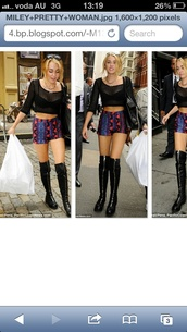 shoes,miley cyrus,thigh highs,shorts