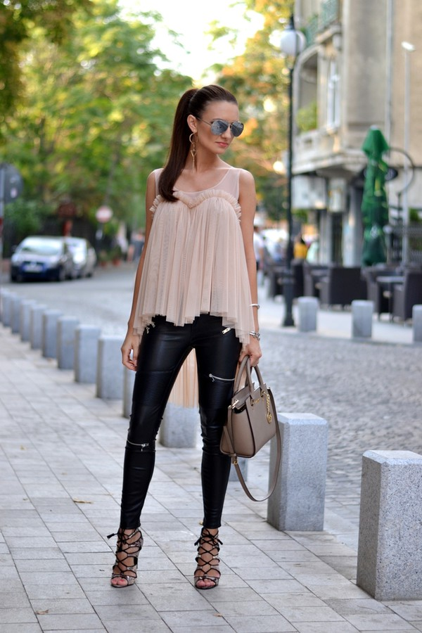 my silk fairytale blogger top bag jewels pants shoes