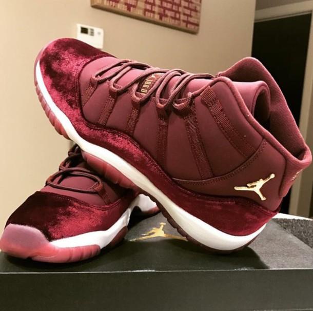 fb680573fbf3 shoes jordans pink jordans sneakers jordan velvet red jordan 11s jordan s  11 white burgundy jordan 11s