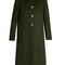 Detachable-collar wool coat