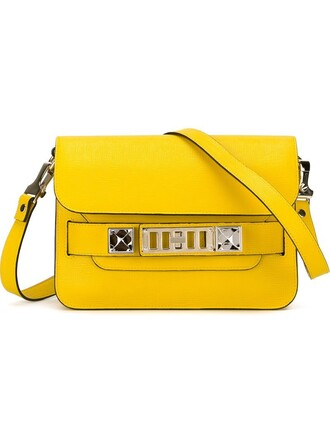 satchel mini yellow orange bag