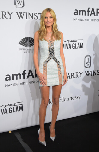 dress mini dress sheer heidi klum pumps
