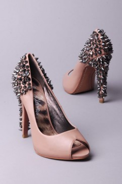 Lorissa peeptoe spiked stud heels by sam edelman at akira