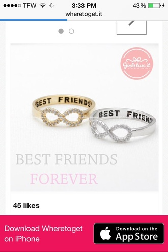jewels best friend rings infinity ring