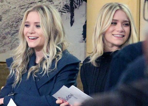olsen sisters blogger coat blouse