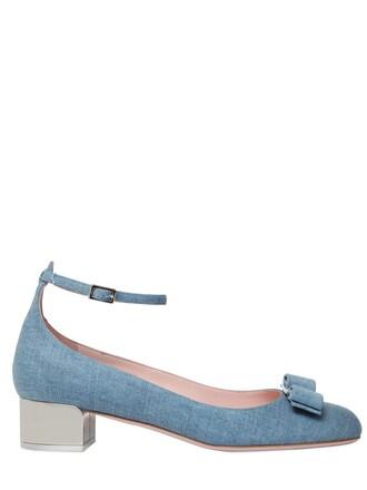 denim pumps cotton blue shoes