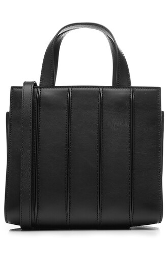 leather black bag