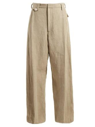 high beige pants