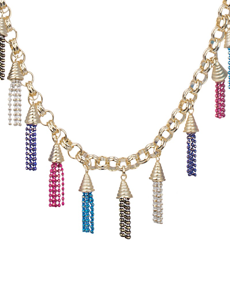 Finley Fringe Necklace in Multi-Color - Kendra Scott Exclusive